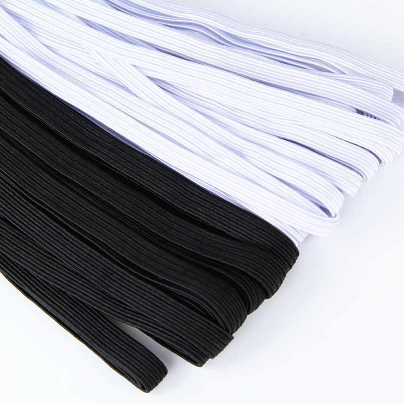 3mm-12mm Nylon suave cordón elástico tejido plano tejido de punto costura banda elástica costura cuerda elástica costura accesorio de ropa DIY 5z