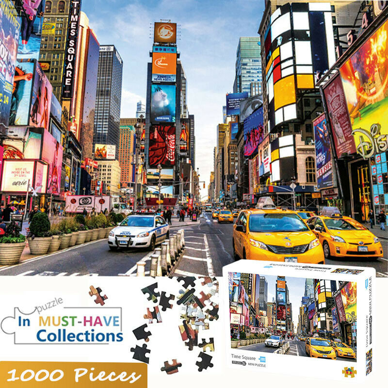 DIY 1000 PICS Jigsaw Puzzle Times Square Train Meng Huan Star Sporis Space Travelers White Peacock For Kids And Adults