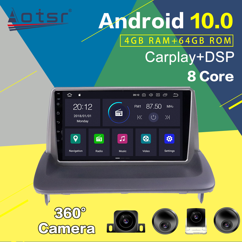 Car Multimedia Player For VOLVO C30 S40 C70 2006-2012 Android Radio Car GPS Navigation PX6 Auto Audio Stereo Head Unit Carplay image
