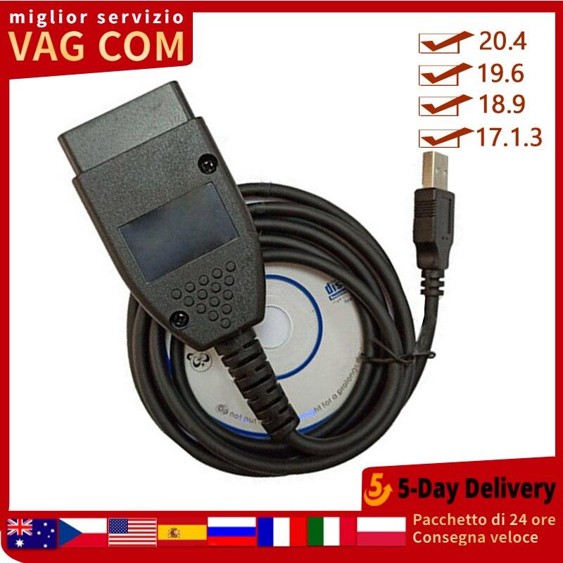 Cable de diagnóstico de escáner de interfaz USB 17.1.3 V2 de Beyisi 17.1.3 Vag Com kkl OBD2 para Volkswagen Skoda Nuevo adaptador Bluetooth V1.5 Elm327 Obd2 Elm 327 V 1,5, escáner de diagnóstico para automóvil para Android Elm-327 Obd 2 ii, herramienta de diagnóstico para coche