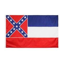 Johnin 90x150cm bandeira de estado dos eua, estados unidos, mississippi