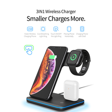 Wireless Charging Dock For iWatch iPhone Phone AirPods Pro Headphones Three In One Fast Wireless Charger Stand Holder Station