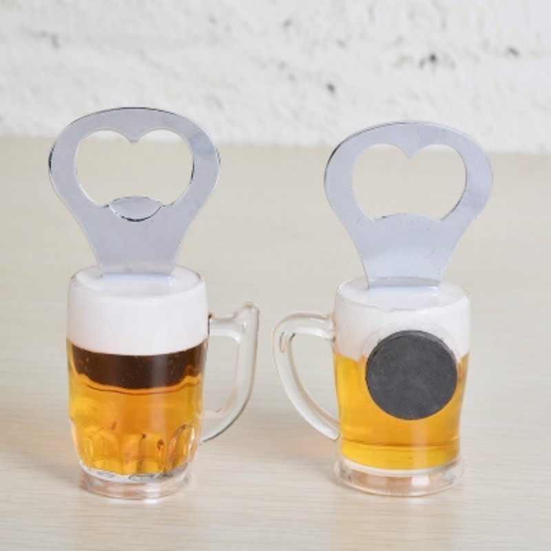 Abridor de botellas de cerveza creativo práctico de acero inoxidable abridor de vino accesorios de cocina imanes de nevera loosh