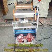 FGJ F1 2 Semi automatic capping machine Tofu box Sealer Trays sealing machine Square box packing machine paper Box sealing mach
