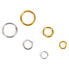 50/90/120 шт. 3/4/6 мм открытые кольца прыжок соединительные бусины цвета: золотистый, серебристый для самодельные Украшения, Аксессуары Лидер продаж