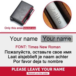 Image 5 - Ví Nam Da Thật Thẻ Hai Lớp RFID Ngăn Chặn Ví Nam ID Đựng Thẻ Ngân Hàng Thời Trang Ví Ví Thẻ