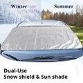 190x120 см Автомобильный солнцезащитный чехол Снежный и ледяной Снежный щит для лобового стекла зимний летний солнцезащитный чехол для лобово...