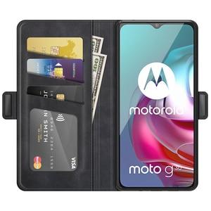 Image 2 - جراب محفظة جلدي لهاتف MOTO G30 ، جراب هاتف مغناطيسي عتيق لهاتف MOTO G10