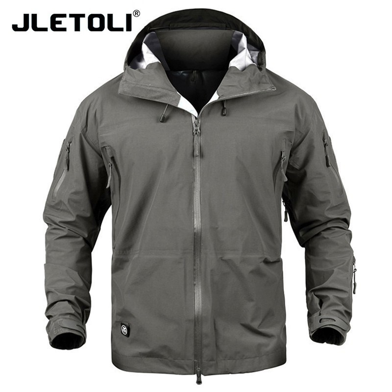 JLETOLI Waterproof Jacket Windbreaker Winter Outdoor Hiking Jacket Men Women Coat Windproof Hard Shell Jacket Tactics Clothes
