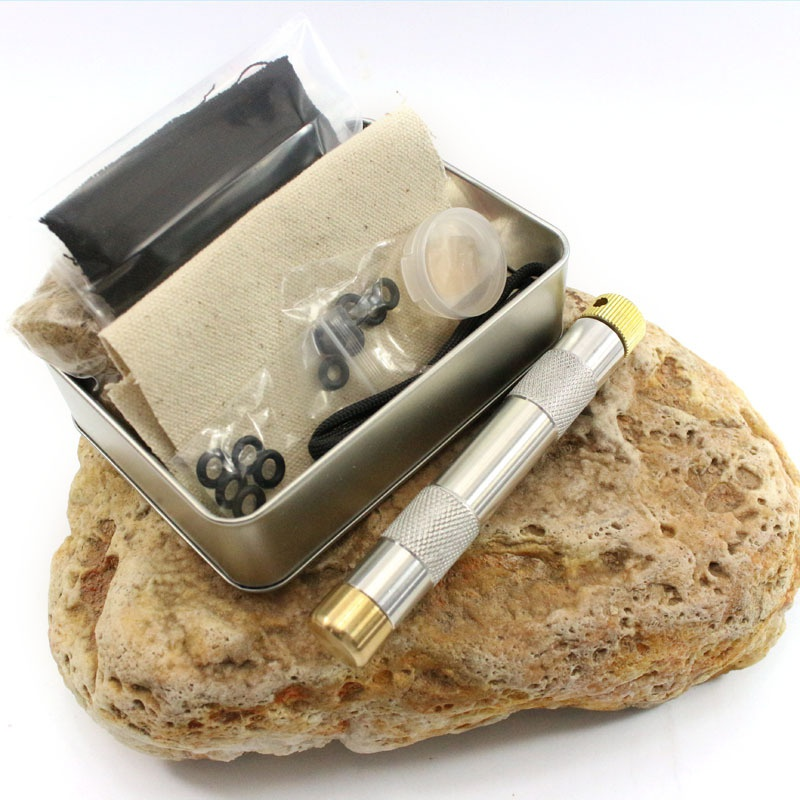 Brass Outdoor Emergency Tools Flame Maker Fire Starter Camping Hiking Piston Kit