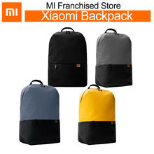 Xiaomi 20L Backpack Bag Yellow Black simple casual large capacity Pack Bags Unisex For laptop Mens Women Travel Work school(China)