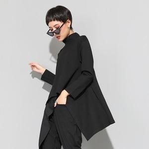 Image 3 - XITAO Vintage czarny golf T koszula kobiety Plus rozmiar Kawaii Casual z długim rękawem nieregularne koszule koreańskie ubrania nowy ZLL1177