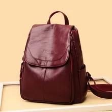 Shoulder Backpack Women's Female Fashion for Bag Versatile Feeling-Foreign Leisure Girl's