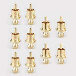 Image 4 - Gold Plated RCA Cap Plug Short Circuit Socket, Phono Connector RCA Shielding Jack Socket Protect Cover Caps