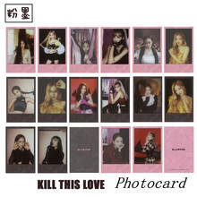 Kpop Blackpink Kill This Love Paper Photo Card New Album Lisa Rose Autograph Photocard Jennie Jisoo Collective Cards