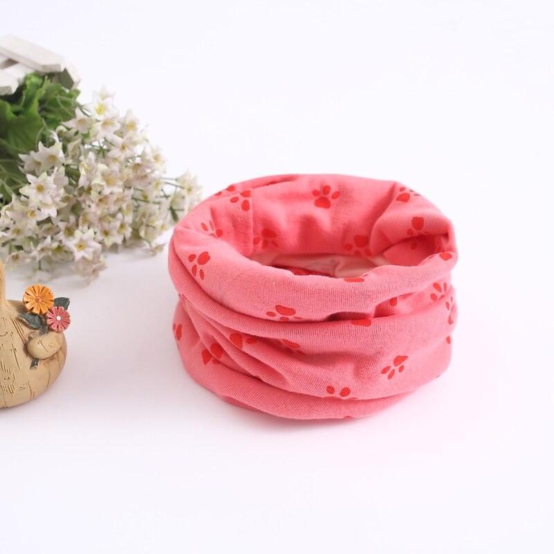 Детский хлопковый шейный шарф с милым принтом; детский теплый шарф; Детские воротники; осенне-зимний шарф-кольцо для мальчиков и девочек; аксессуары для детской одежды - Цвет: wb021