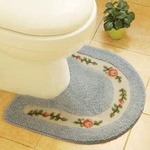 Нескользящий коврик для ванной комнаты в сельском стиле фланелевый