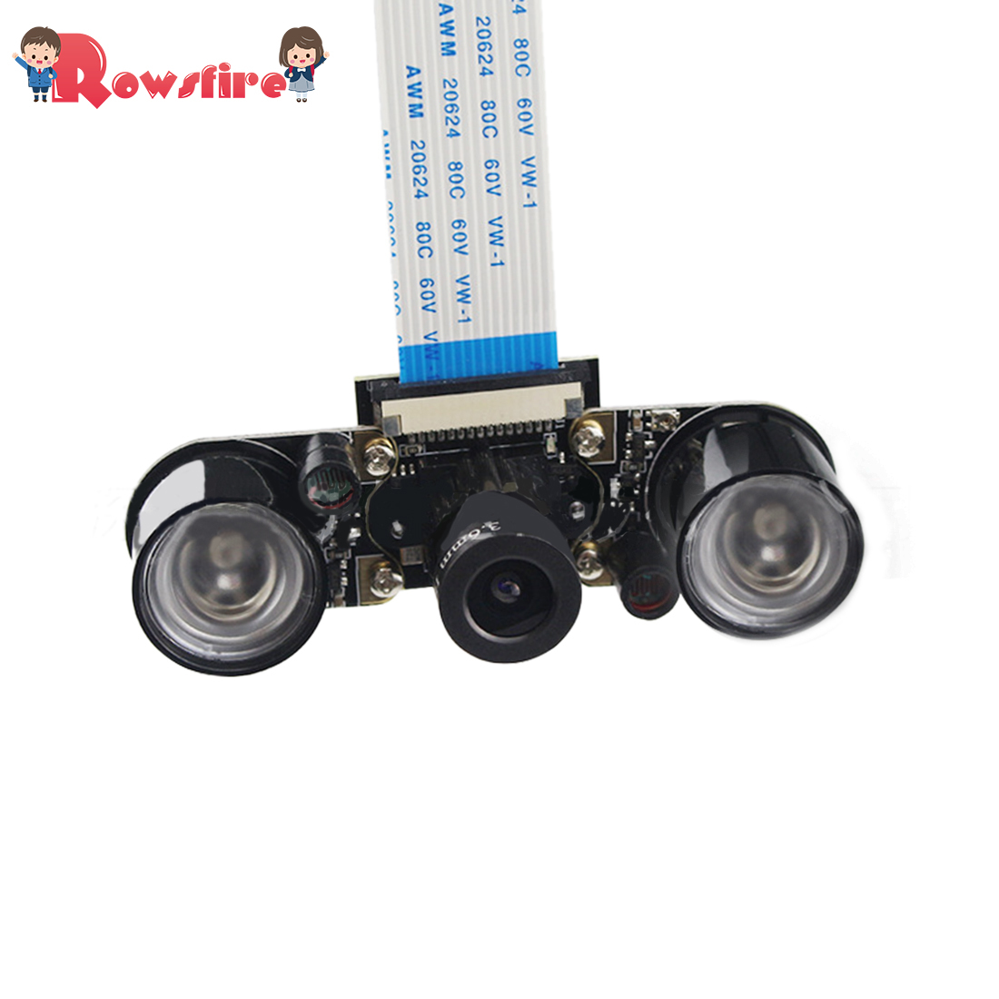 5MP Pixel Infrared Night Vision Camera With Infrared Fill Light For Raspberry Pi 3B+/3B/2B