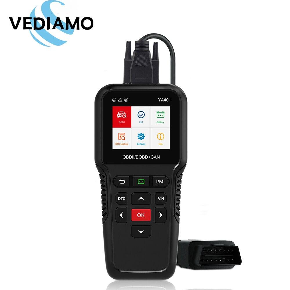 OBD2 Scanner Car Diagnostic Tool YA401 Turn Off Check Engine Light Multilingual Free Update Automotive Fault Code Reader
