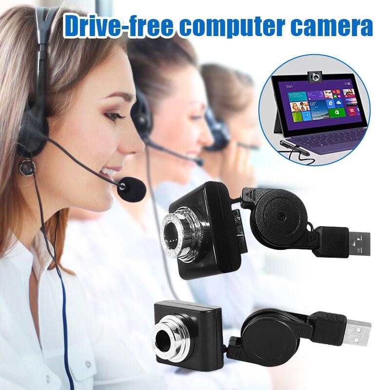 Driver-free Computer Camera Webcam Manual Focus Plug and Play HD USB Web Camera for Home AS99