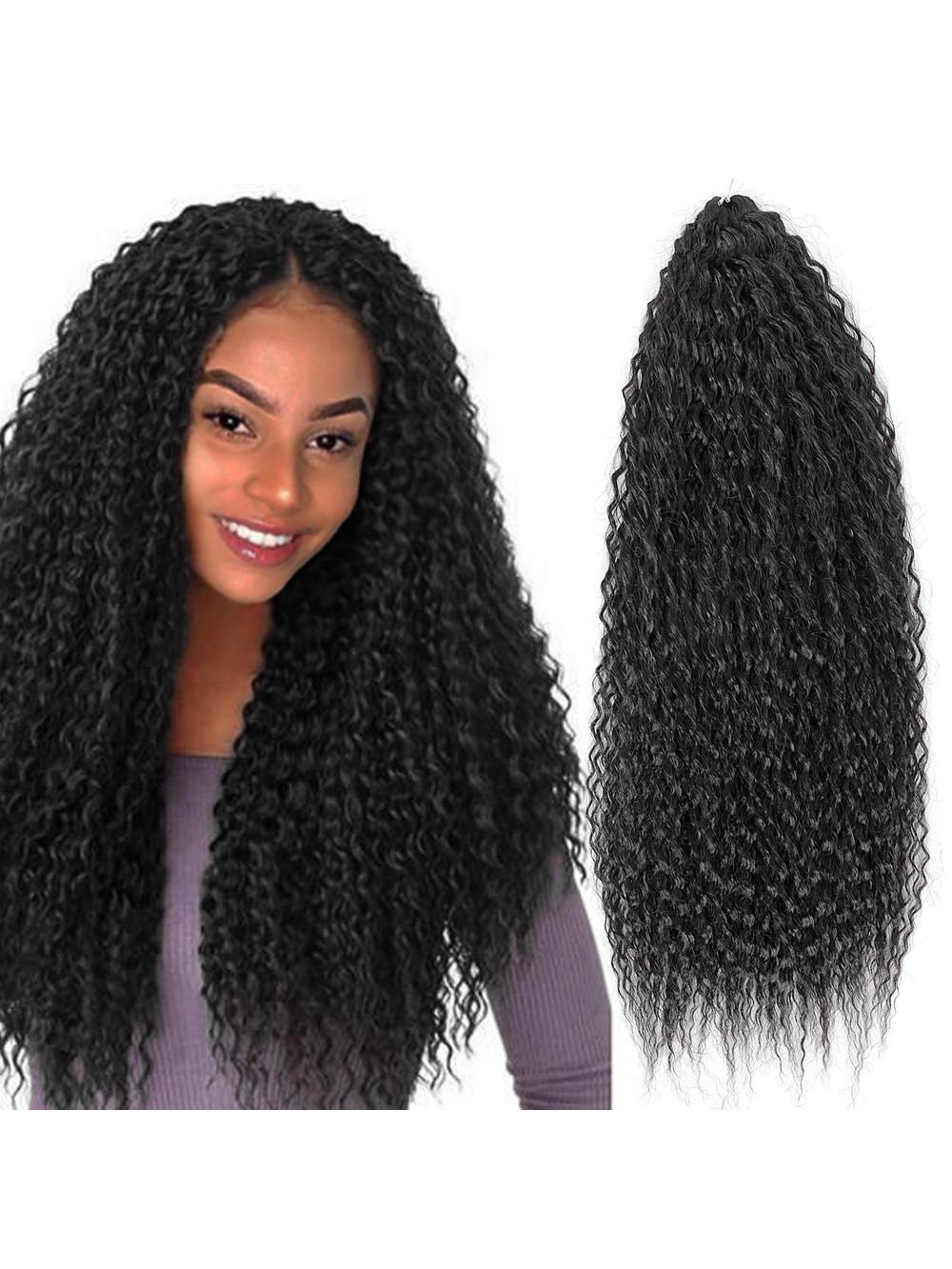 Hair-Extensions Marly-Hair Braiding Yaki Crochet Afro Kinky Curly Soft Yxcheris Synthetic