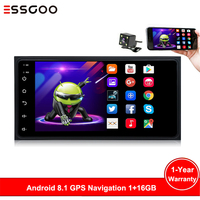 Essgoo for Toyota Car Radio 1 Din Car Multimedia Player Autoradio 1din Stereo 7 Touch Screen Video MP5 Auto Backup Camera