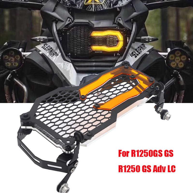 Yellow Ruizhi Headlight Guard Lens Cover Light Bracket Protection for BMW R1200GS LC ADV 14-20 R1250GS HP Adventure 18-20 R1200 R1250 GS