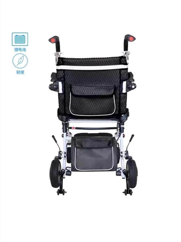 הנמכר ביותר נטו משקל 18KG סוללת ליתיום מתקפל חכם שליטה חשמלי כיסא גלגלים יכול להתבצע על מטוס