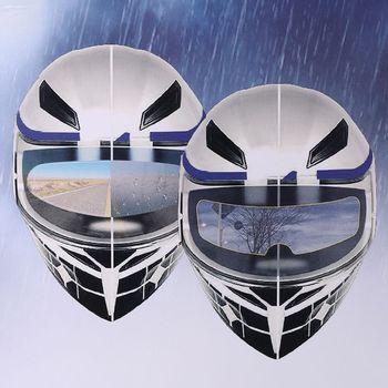 Uniwersalny kask motocyklowy opcjonalnie przezroczysta folia przeciwdeszczowa ekran przeciwdeszczowy przezroczysty ekran przeciwmgielny do kasków K3 K4 AX8 LS2 HJC MT tanie i dobre opinie CVBNVN CN (pochodzenie) Flip Kask Unisex Kaski