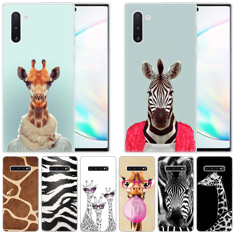 Animal Zebra Giraffe Soft <font><b>Silicone</b></font> <font><b>Case</b></font> for <font><b>Samsung</b></font> Galaxy Note 10 Pro 9 8 5 M30S M40 S10E S10 5G S9 S8 Plus <font><b>S7</b></font> S6 <font><b>Edge</b></font> S5 Cover image
