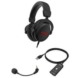 Image 5 - Yeni Kingston HyperX bulut çekirdekli + 7.1 surround oyun kulaklığı bir mikrofon ile profesyonel esport kulaklık kulaklık siyah