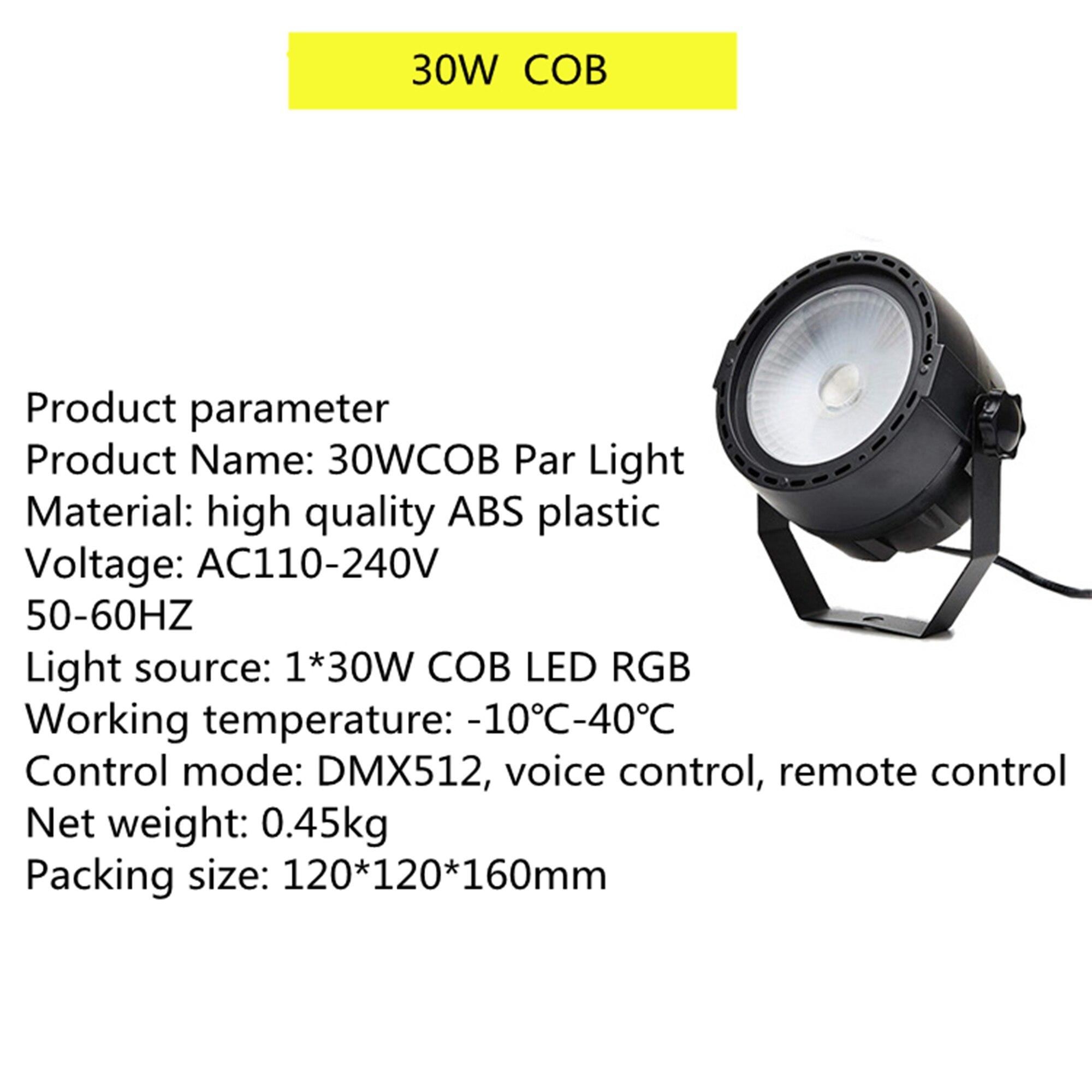 30wcob superfície luz dj iluminação de palco