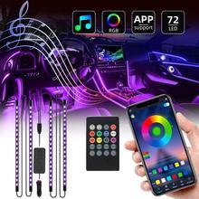 Приложение Управление салона Светодиодные ленты светильник с несколькими цветами RGB DIY Цвет Светодиодные ленты светильник s АВТОМОБИЛЬНОЕ ...