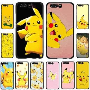 EWAU Pikachu Silicone telefoon case voor Huawei Honor 6A 7A Pro 7C 7X 8X 8C 8 9 Note 10 Lite view 20 9X pro