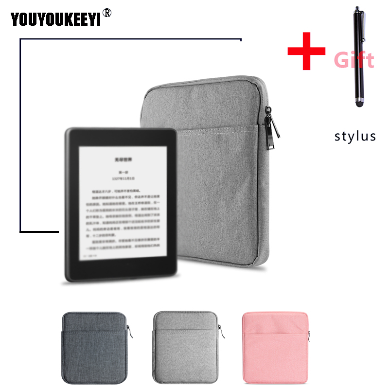 Light Zipper Sleeve Bag Case For Kobo Libra H2O 7inch Ebook Cover Storage Bag +gift