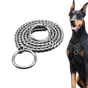 Dog Chian Collar Pet Training Collars P Chain Slip Chain Dog Choker Collar For Small Medium Large Dogs Doberman Beagle(China)