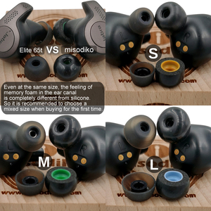 Image 2 - misodiko TWS Pro Memory Foam Ear Tips for Ture Wireless Earbuds  Jabra Elite 75t, Elite 65t, Active 65t, Elite Sport, Evolve 65t
