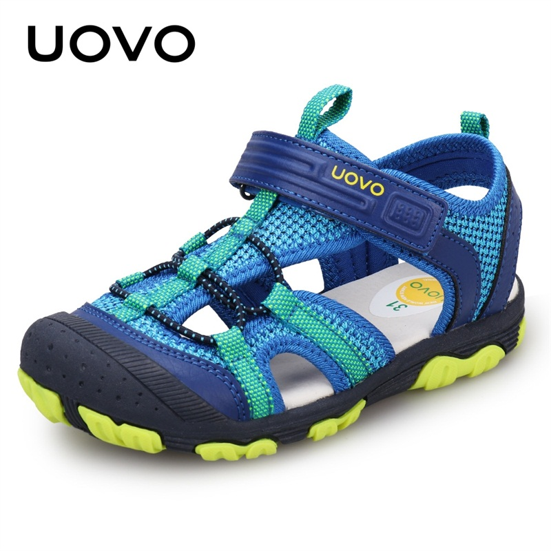 UOVO 2020 New Arrival Boys Sandals Children Sandals Closed Toe Sandals For Little And Big Sport Kids Summer Shoes Eur Size 25-35