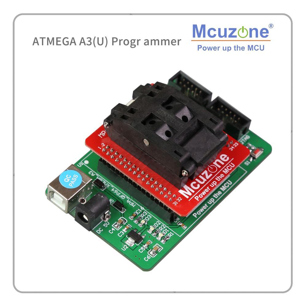 USB AVR ATXMEGA64A3 ATXMEGA64A3U ATXMEGA256A3U ATXMEGA256A3 ATXMEGA128A3 ATXMEGA128A3U Programmer Adaptor PDI JTAG