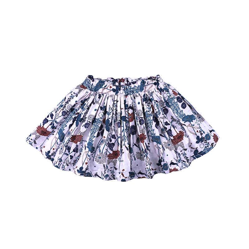 女の赤ちゃんスカート春と夏の幼児の子供花ビーチスカート綿プリーツスカート子供服