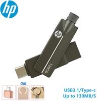 HP-unidad Flash USB 3,1 X5200M tipo c, Pen Drive Original de USB OTG, 128GB, 64GB, 32GB, para dispositivo tipo C
