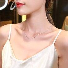 Authentic 100% 925 prata esterlina colar senhoras luxo nicho requintado presentes colar ajustável moda acessórios corrente