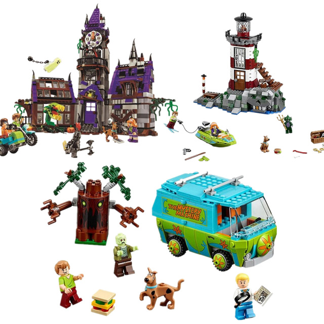 Bela Scooby Doo Mystery Machine Bus Building Block DIY Blocks Toys 10430 10432 10431 Compatible With Legoinglys  Birthday Gifts