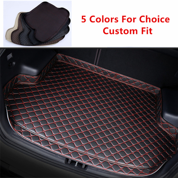 High Quality Special Car Trunk Mats For Audi A4 (2008-2019) 2017 2018 all weather Waterproof Cargo Liner Boot Carpets