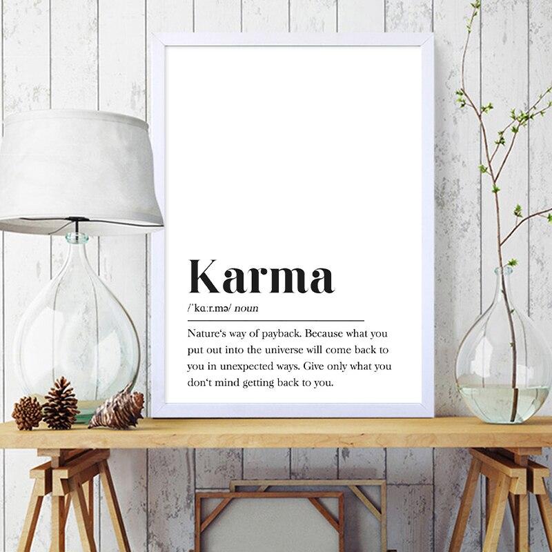Karma Definition Canvas Print Wall Art Decor