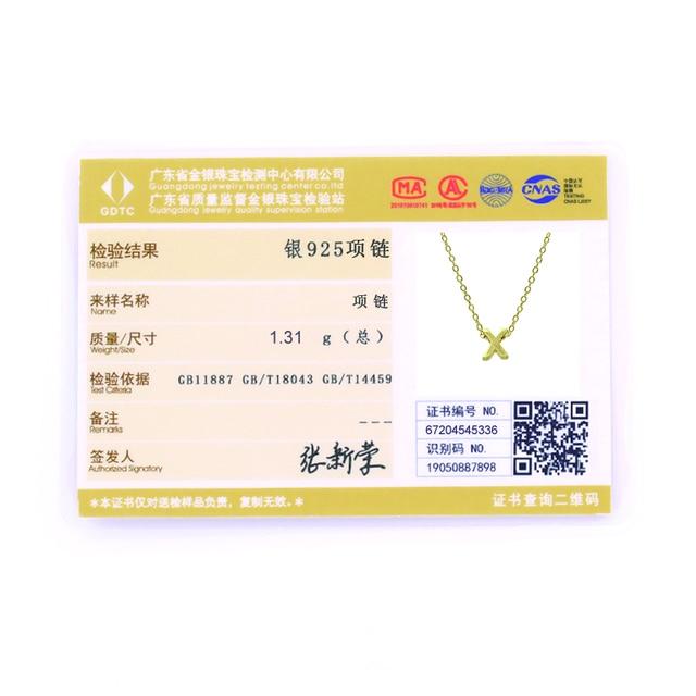 Roxi moda brilhante colares 925 prata esterlina 26 inglês alfabeto pingente colar para mulheres meninas presente carta cobra corrente