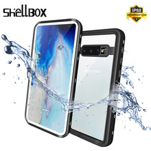 SHELLBOX Waterproof Case For Samsung Galaxy S10 Plus S10 S9 S8 Note 8 9 Swimming Diving Coque Cover for Phone Underwater Case
