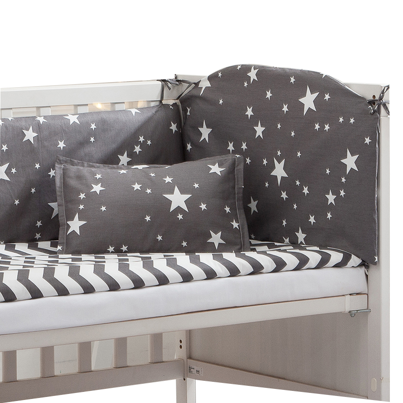 6/9PCS Wave Stars Baby Bedding Set Newborn Crib Duvet Sheet Baby Bed Bumper Room Decor Bed Decoration ,120*60/120*70cm