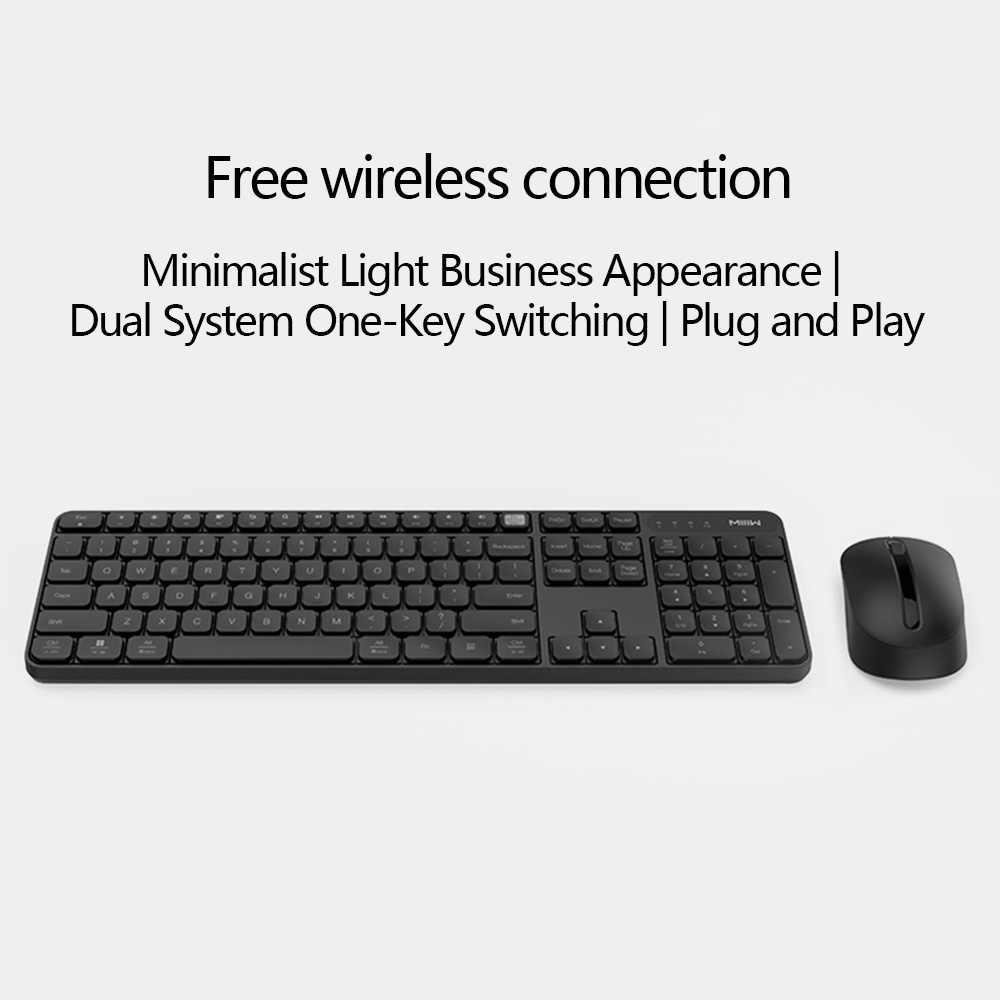 מקורי Xiaomi MIIIW אלחוטי משרד מקלדת ועכבר סט 104 מפתחות 2.4GHz Windows PC MAC תואם נייד USB מקלדת