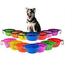 Миска для собак складная Экологически чистая силиконовая миска